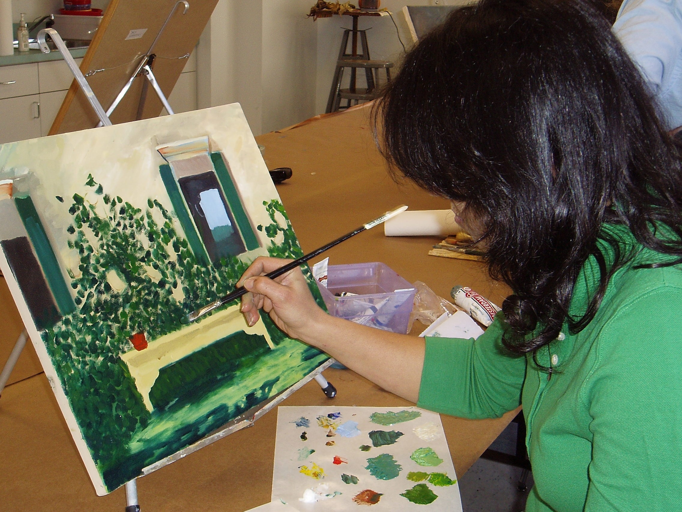 Adult drawing and painting