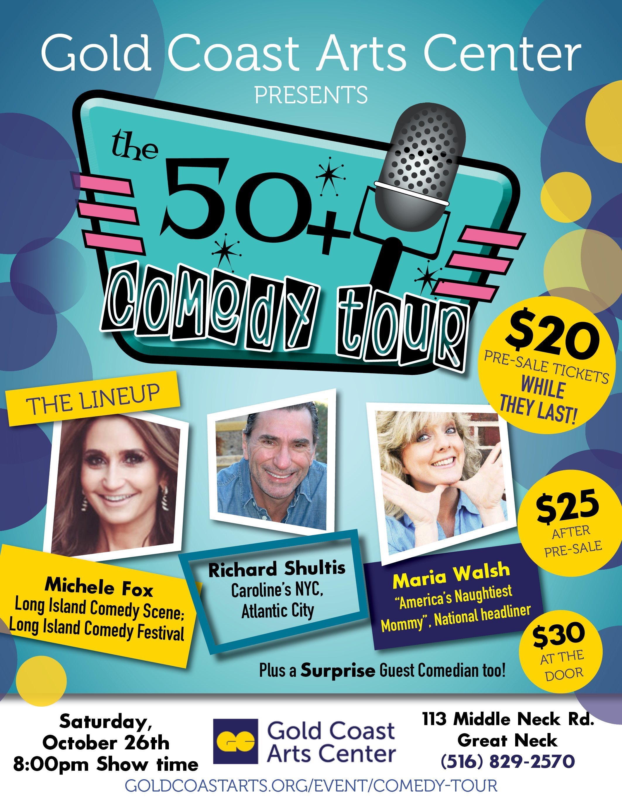 50+ Comedy Tour @ Gold Coast Arts Center