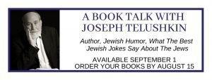 Book Talk with Author Joseph Telushkin @ Online Special Event